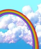 Pastell- & kritaregnbåge arkivbild