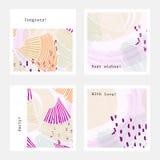 Pastell som färgas med purpurfärgade prickar vektor illustrationer