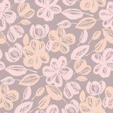Pastell steg modellen för den abstrakta blomman för skugga den sömlösa stock illustrationer