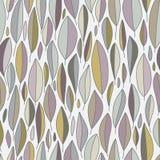 Pastell tonar den sömlösa modellen för sidor på grå färger stock illustrationer