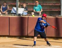 Pastella che colpisce un softball - Olympics speciali Immagini Stock