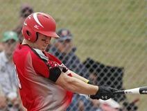 Pastella degli uomini di softball di Fastpitch Fotografie Stock Libere da Diritti