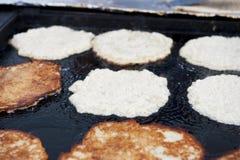 Pastella di pancake del primo piano Fotografia Stock