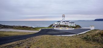A pastelle coloured evening at Fanad Head Lighthouse stock photo