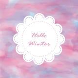 Pastellfärgad bakgrund för ljus vit förälskelse för rosa färgblått violett i vinter Royaltyfria Bilder