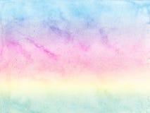 Pastellfärgad bakgrund för vattenfärg Arkivfoto