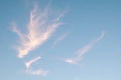 Pastellfärgad blå himmel arkivbild