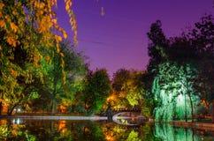 Pastellfärgad Cismigiu sjö Fotografering för Bildbyråer