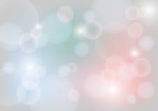 Pastellfärgad färg för abstrakt bokehbakgrund Arkivbild
