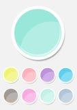 Pastellfärgad färg för etikettuppsättning stock illustrationer