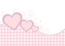Pastellfärgad hjärtabakgrund Arkivbilder