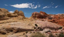 Pastellfärgad kanjon på dalen av branddelstatsparken royaltyfria bilder