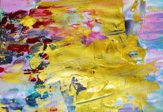 Pastellfärgad livlig kontrastbakgrund, vattenfärgabstrakt begrepptextur Royaltyfria Bilder