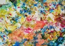 Pastellfärgad målarfärgbakgrund som mousserar lerig vaxartad målarfärg, kontrast formar bakgrund i pastellfärgade toner fotografering för bildbyråer
