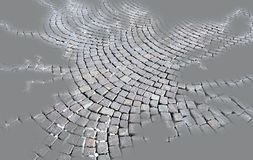 Pastellfärgad silverbakgrund för abstrakt trottoar, modell Arkivbilder