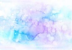 Pastellfärgad vattenfärgbakgrund för abstrakt regnbåge vektor illustrationer