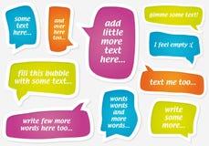 Pastellfärgade anförandebubblor för vektor Royaltyfri Fotografi