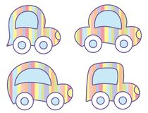 pastellfärgade bilar Arkivbild