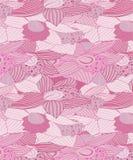 Pastellfärgade rosaaktiga & gråaktiga orkidéblommor mönstrar royaltyfri illustrationer