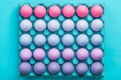 Pastellfärgade skuggor av modellen för visuell konst för ägg Arkivbild