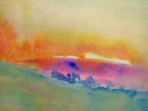 pastellfärgade vattenfärger Royaltyfria Bilder