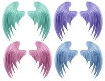 pastellfärgade vingar Arkivfoton