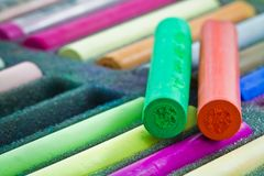 pastellfärgade sticks Arkivbild