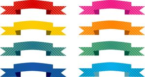 Pastellfarben-Kennsatz oder Fahnen Lizenzfreies Stockbild