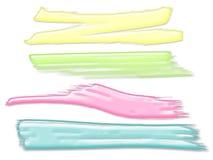 Pastellfarbgemalte Bürste streicht Hintergrund Lizenzfreie Abbildung