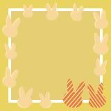 Pastellfarbkaninchenrahmen lizenzfreie abbildung