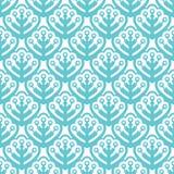 Pastellfarbnahtlose Muster mit Blättern lizenzfreie abbildung