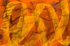 PastellGrunge Hintergrund: Schwarzes gelb-orangees Lizenzfreies Stockfoto