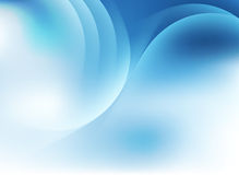 Pastellhintergrund des blauen Himmels mit Schattenbild von hellen Linien Lizenzfreies Stockbild