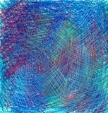 Pastellhintergrund mit Kratzern Blau, blau, grün, schäbig lizenzfreie abbildung
