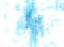 Pastellhintergrunddoppelbelichtung des blauen weißen Dreiecks Stockbilder