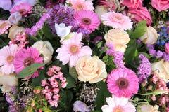 Pastellhochzeitsblumen Stockbilder