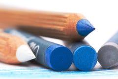 Pastelli blu dell'olio del abd grigio immagini stock libere da diritti