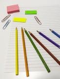 Pastelli colorati Fotografia Stock Libera da Diritti