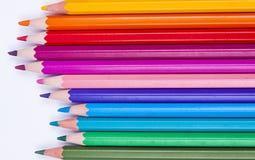 Pastelli Colourful su fondo bianco. immagine stock