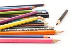 Pastelli Colourful su un fondo bianco fotografie stock libere da diritti