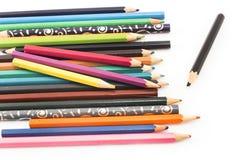 Pastelli Colourful su un fondo bianco fotografia stock libera da diritti