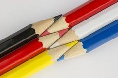Pastelli come immagine del fondo Fotografie Stock Libere da Diritti