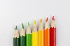 Pastelli concettuali come colori dell'etichetta di energia Fotografie Stock Libere da Diritti