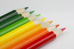 Pastelli concettuali come colori dell'etichetta di energia Fotografia Stock Libera da Diritti
