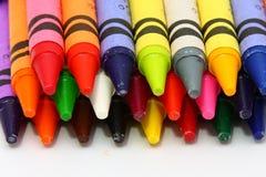 Pastelli di cera colorati fotografia stock libera da diritti