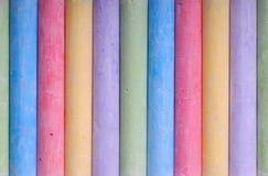Pastelli di colore nella riga Fotografia Stock Libera da Diritti