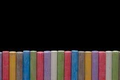 Pastelli di colore nella riga Fotografie Stock Libere da Diritti