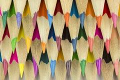 Pastelli di legno come immagine del fondo Fotografia Stock