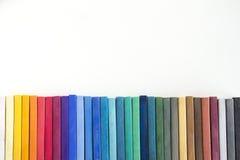 Pastelli duri sullo sketchbook Fotografia Stock