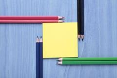 Pastelli e note Fotografia Stock Libera da Diritti